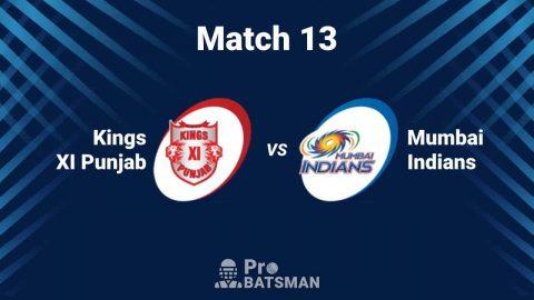 IPL 2020: Kings XI Punjab (KXIP) vs Mumbai Indians (MI) -- Match 13 Details, Playing XI, Head to Head, Squads, Pitch Report – October 1, 2020