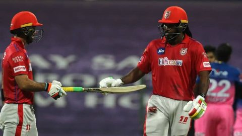 IPL 2020: Gayle Fined 10% of His Match Fee, Flung His Bat After Getting Out On 99