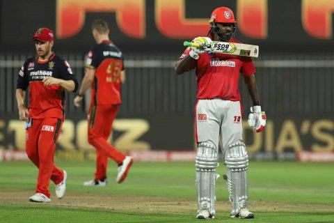 IPL 2020: Chris Gayle Becomes 8th Player to Cross 4500 IPL Runs