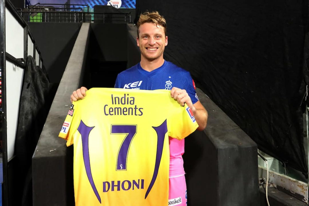 IPL 2020: Jos Buttler Receives a Special Gift From MS Dhoni