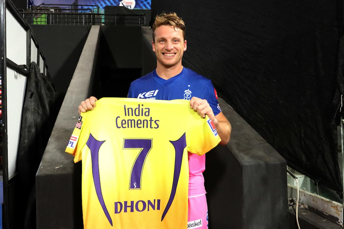 IPL 2020 Jos Buttler Receives a Special Gift From MS Dhoni