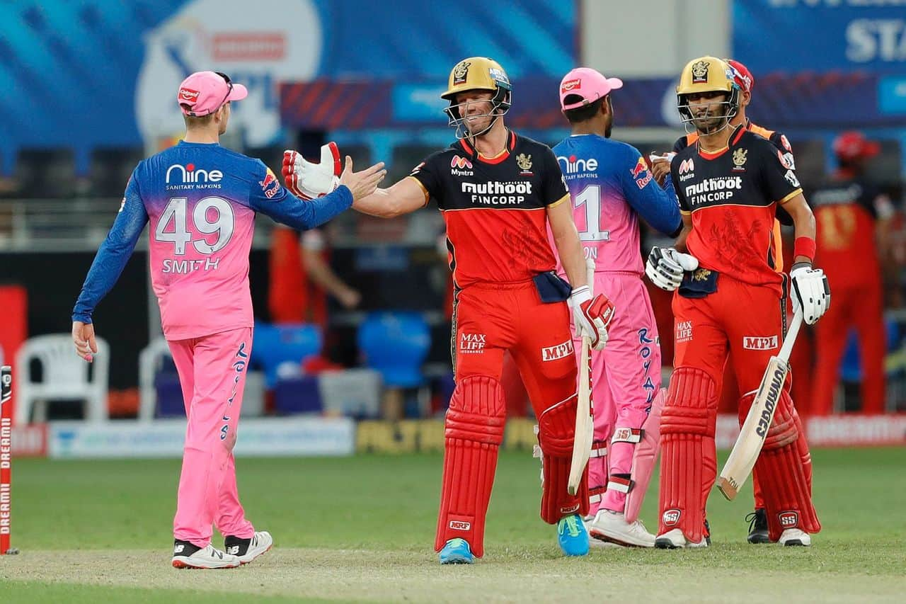 IPL 2020 - RR vs RCB Highlights & Analysis Royal Challengers Bangalore Defeated Rajasthan Royals by 7 Wickets; AB de Villiers 22 Balls Fifty