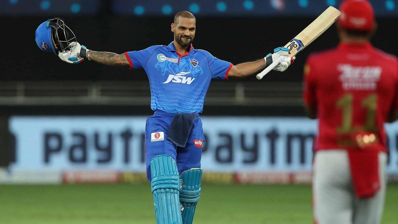 Shikhar Dhawan Becomes 5th Batsman To Cross 5000 IPL Runs