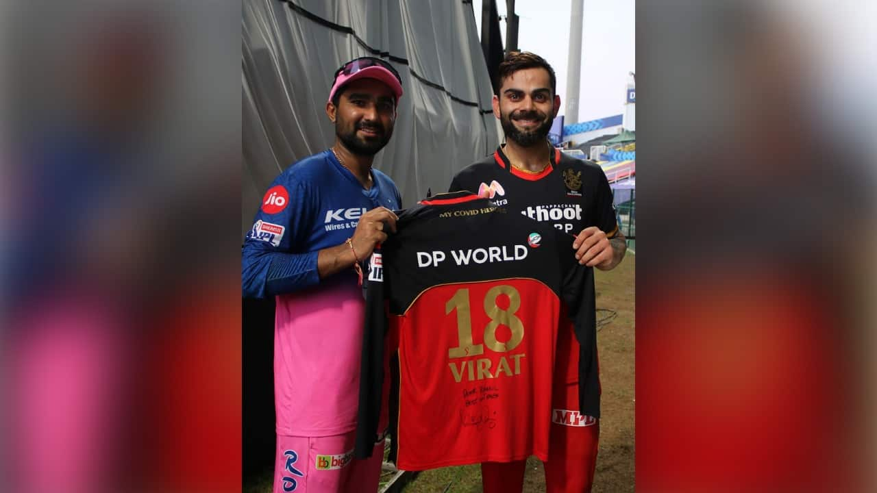 IPL 2020: Virat Kohli's Special Gift to Rahul Tewatia