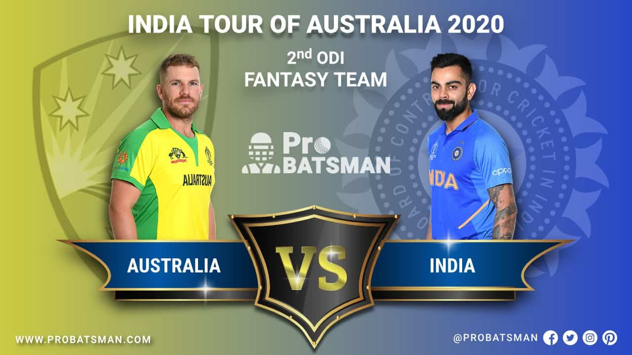 AUS vs IND 2nd ODI Dream 11 Fantasy Team Prediction, Probable Playing 11, Pitch Report, Weather Forecast, Squads, Match Updates – November 29, 2020