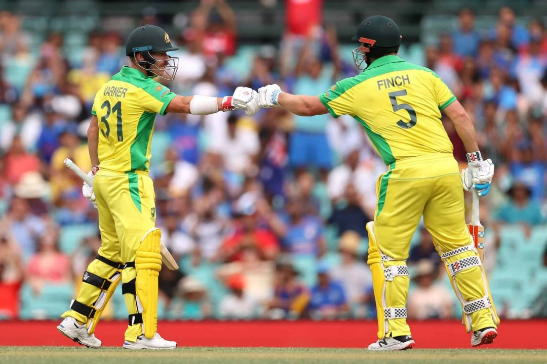 IND vs AUS: Finch-David Warner Equalled Sehwag-Tendulkar Partnership Record with Another 100-Run Stand in ODIs