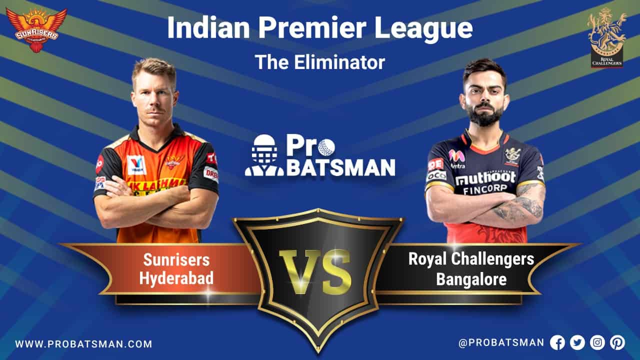 IPL 2020 SRH vs RCB Eliminator Dream 11 Fantasy Team Prediction: SunRisers Hyderabad vs Royal Challengers Bangalore, Probable Playing 11, Pitch Report, Weather Forecast, Captain, Head-to-Head, Squads, Match Updates – November 6, 2020