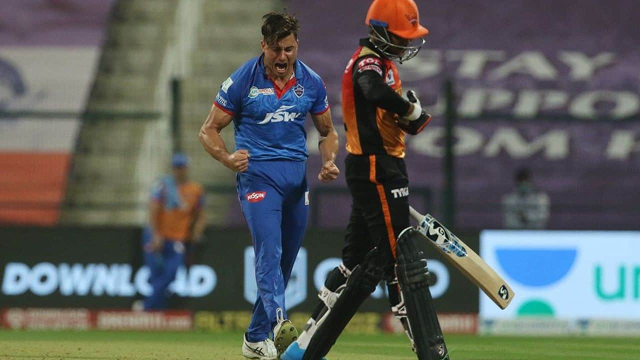 Marcus Stoinis is adjudged Man of the Match in Qualifier 2 of IPL 2020