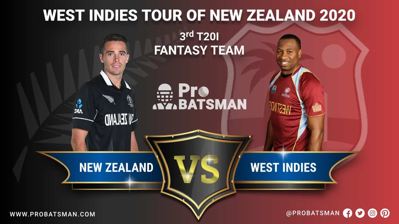 NZ vs WI 3rd T20I Dream 11 Fantasy Team Prediction, Probable Playing 11, Pitch Report, Weather Forecast, Squads, Match Updates – November 30, 2020