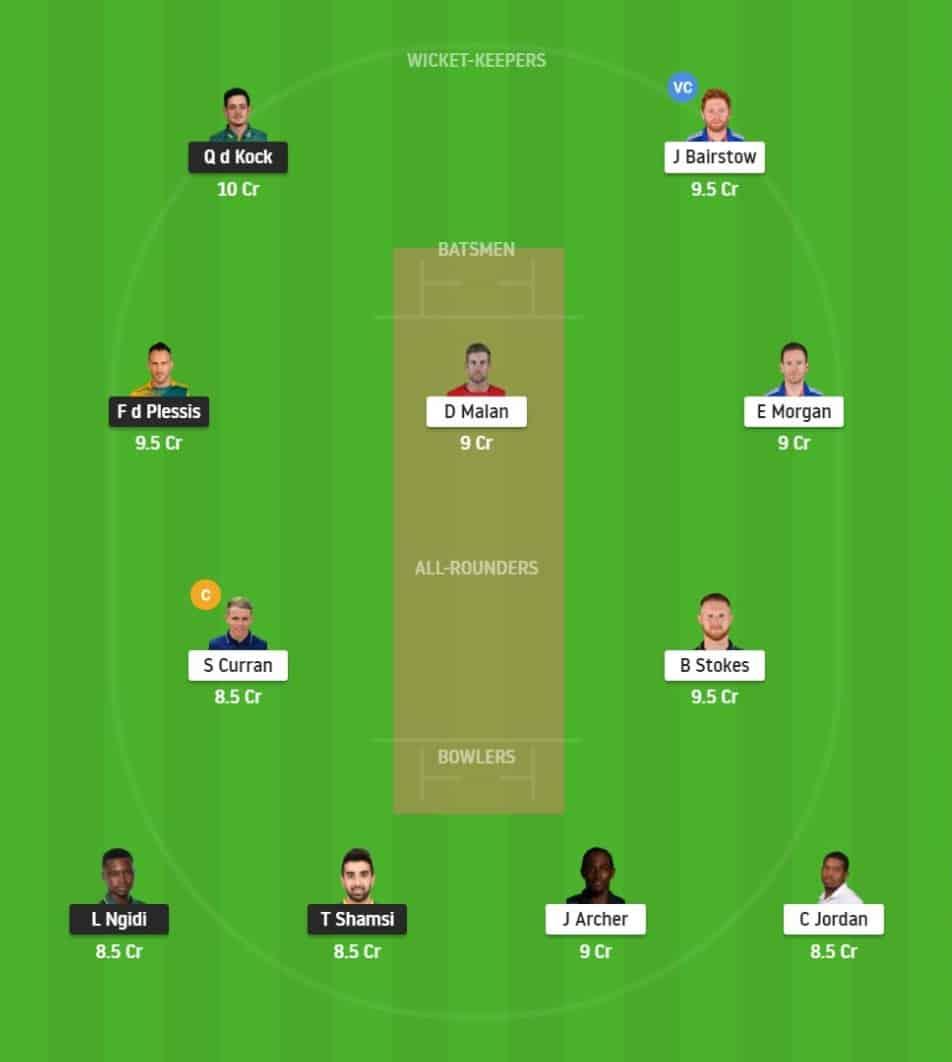 SA vs ENG 2nd T20I Dream11 Fantasy Playing 11