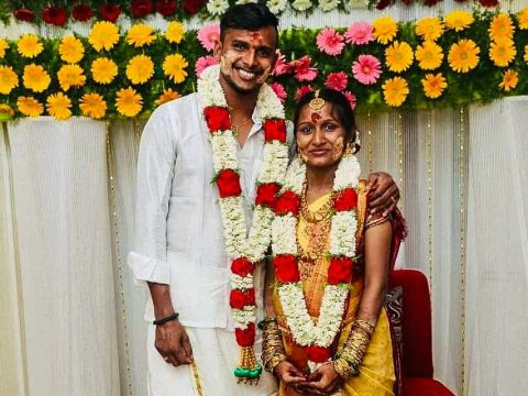 SRH Pacer T Natarajan And Wife Pavitra Natarajan Blessed With a Baby