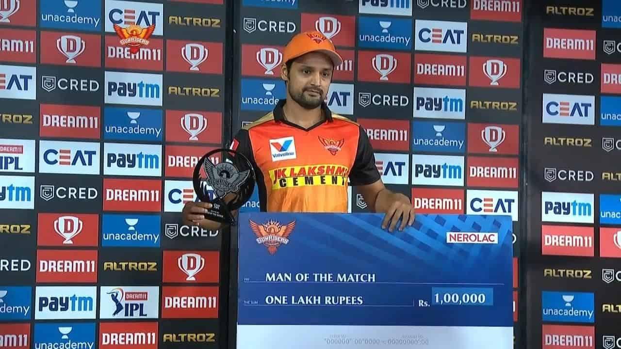 Shahbaz Nadeem - Man of the Match