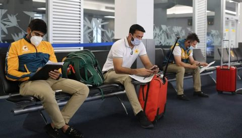 The Pakistani team led by skipper Babar Azam have landed in Christchurch for upcoming bilateral series against New Zealand starting December 18