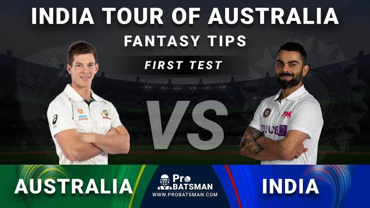 AUS vs IND Dream11 Fantasy Prediction: Playing 11, Pitch Report, Weather Forecast, Head-to-Head, Match Updates – India Tour of Australia 2020-21