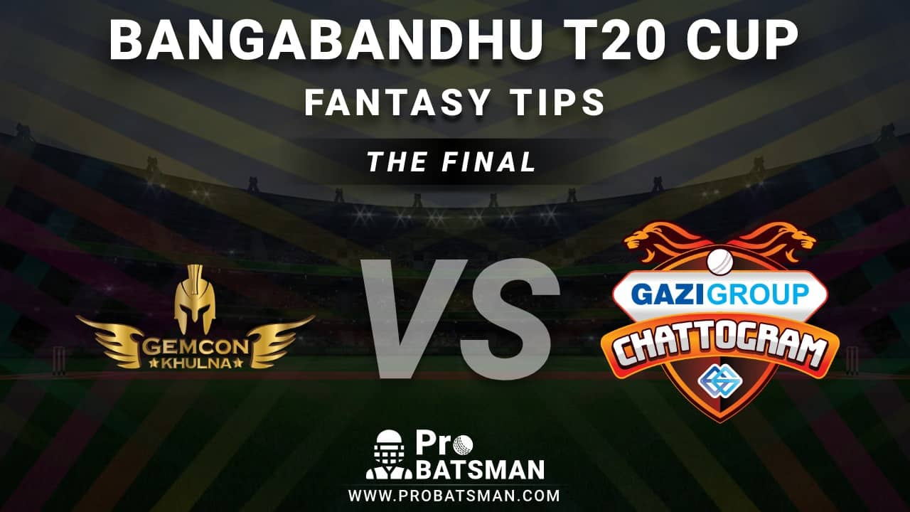 GKH vs GGC The Final Dream11 Fantasy Prediction: Playing 11, Pitch Report, Weather Forecast, Match Updates – Bangabandhu T20 Cup 2020