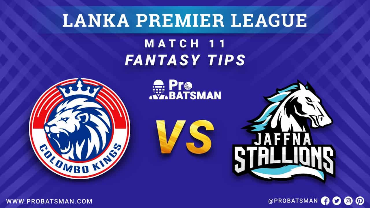 LPL 2020: CK vs JS Dream 11 Fantasy Team Prediction: Colombo Kings vs Jaffna Stallions Probable Playing 11, Pitch Report, Weather Forecast, Squads, Match Updates – December 04, 2020
