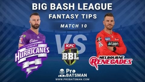 HUR vs REN Dream11 Fantasy Predictions: Playing 11, Pitch Report, Weather Forecast, Head-to-Head, Best Picks, Match Updates – BBL 2020-21