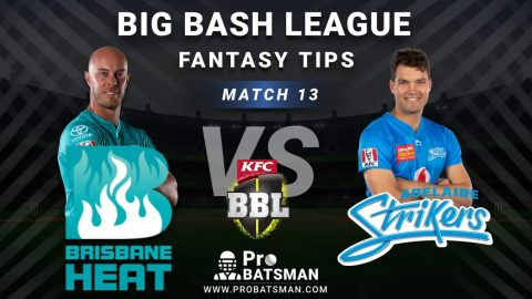 HEA vs STR Dream11 Fantasy Predictions: Playing 11, Pitch Report, Weather Forecast, Head-to-Head, Best Picks, Match Updates – BBL 2020-21