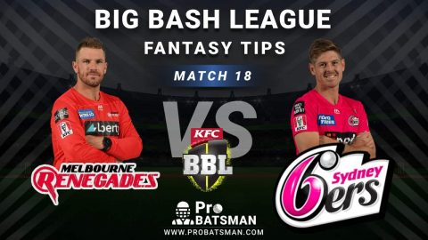 REN vs SIX Dream11 Fantasy Predictions: Playing 11, Pitch Report, Weather Forecast, Head-to-Head, Best Picks, Match Updates – BBL 2020-21
