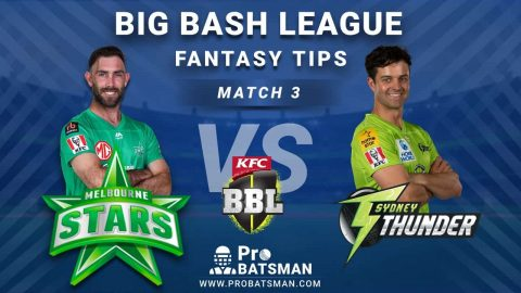 STA vs THU Dream11 Fantasy Predictions: Playing 11, Pitch Report, Weather Forecast, Head-to-Head, Match Updates – BBL 2020-21