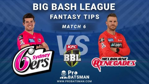 SIX vs REN Dream11 Fantasy Predictions: Playing 11, Pitch Report, Weather Forecast, Head-to-Head, Match Updates – BBL 2020-21