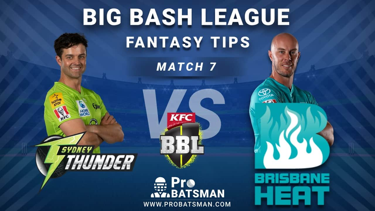 THU vs HEA Dream11 Fantasy Predictions: Playing 11, Pitch Report, Weather Forecast, Head-to-Head, Match Updates – BBL 2020-21