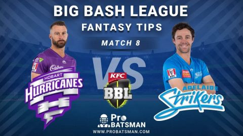 HUR vs STR Dream11 Fantasy Predictions: Playing 11, Pitch Report, Weather Forecast, Head-to-Head, Match Updates – BBL 2020-21