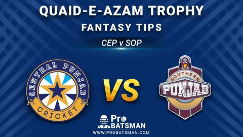 CEP vs SOP Dream11 Fantasy Prediction: Playing 11, Pitch Report, Weather Forecast, Stats, Squads, Top Picks, Match Updates – Quaid-e-Azam Trophy 2020-21