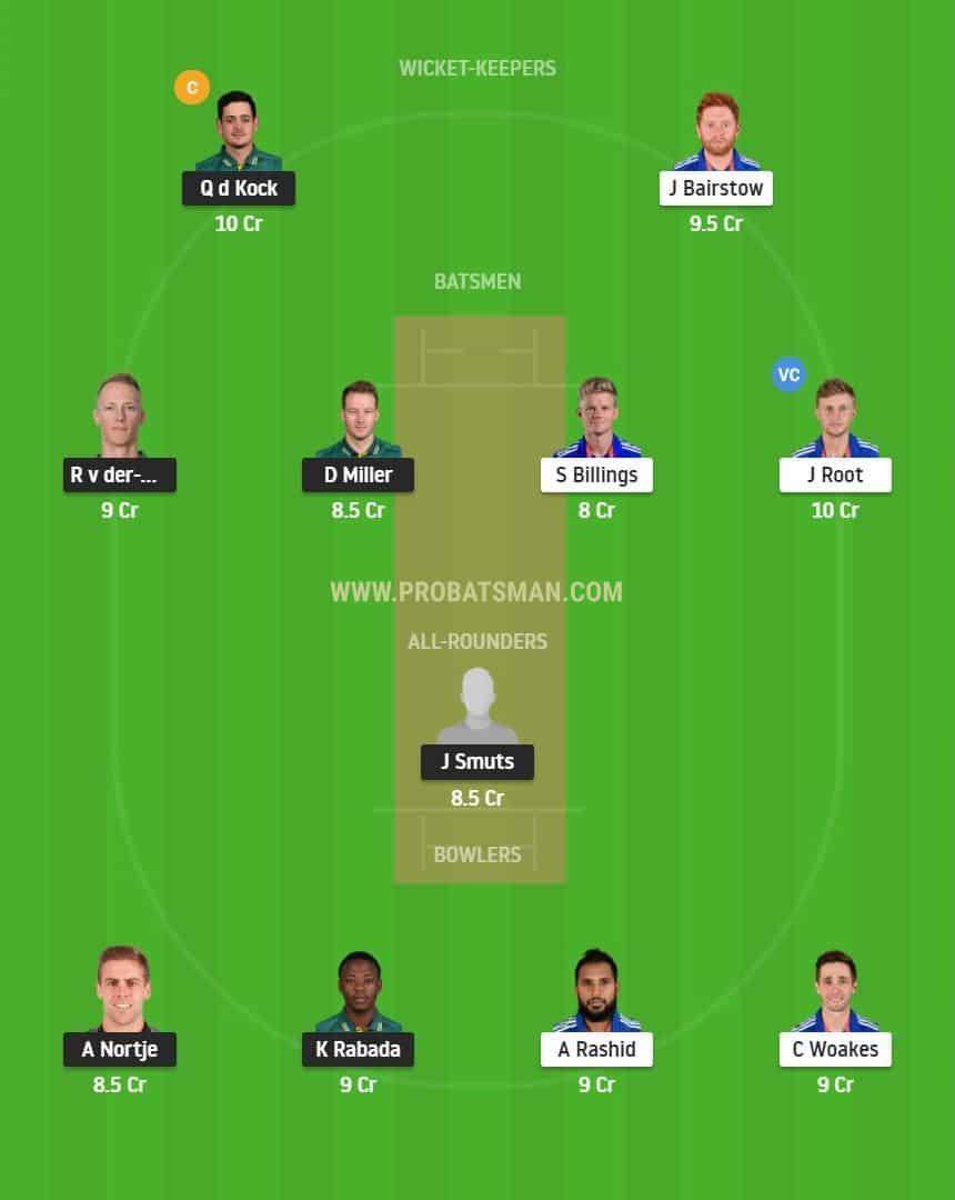 SA vs ENG 1st ODI Dream11 Fantasy Prediction