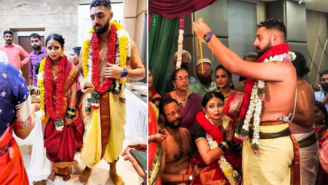 KKR Spinner Varun Chakravarthy Marries Girlfriend Neha Khedekar in Chennai