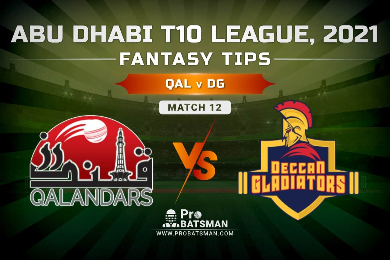 QAL vs DG Dream11 Prediction, Fantasy Cricket Tips: Playing XI, Pitch Report and Injury Update – Abu Dhabi T10 League 2021, Match 12