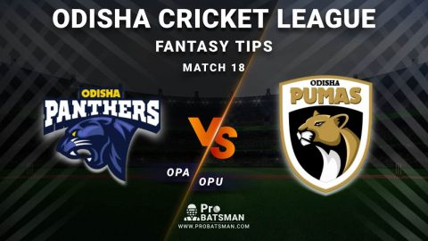 OPA vs OPU Dream11 Fantasy Predictions: Playing 11, Pitch Report, Weather Forecast, Head-to-Head, Best Picks, Match Updates – Odisha Cricket League 2020-21