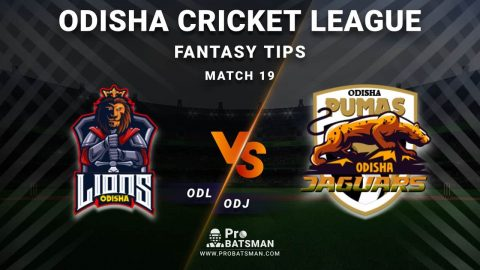 ODL vs ODJ Dream11 Fantasy Predictions: Playing 11, Pitch Report, Weather Forecast, Head-to-Head, Best Picks, Match Updates – Odisha Cricket League 2020-21