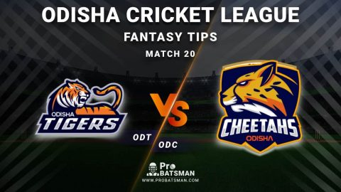 ODT vs ODC Dream11 Fantasy Predictions: Playing 11, Pitch Report, Weather Forecast, Head-to-Head, Best Picks, Match Updates – Odisha Cricket League 2020-21
