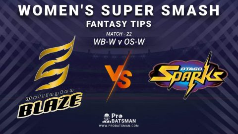 WB-W vs OS-W Dream11 Fantasy Prediction: Playing 11, Pitch Report, Weather Forecast, Stats, Squads, Top Picks, Match Updates – Women's Super Smash 2020-21