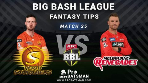SCO vs REN Dream11 Fantasy Predictions: Playing 11, Pitch Report, Weather Forecast, Head-to-Head, Best Picks, Match Updates – BBL 2020-21