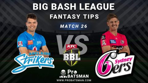 STR vs SIX Dream11 Fantasy Predictions: Playing 11, Pitch Report, Weather Forecast, Head-to-Head, Best Picks, Match Updates – BBL 2020-21