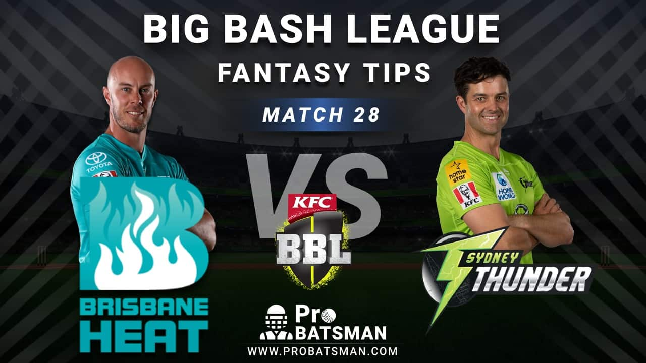 HEA vs THU Dream11 Fantasy Predictions: Playing 11, Pitch Report, Weather Forecast, Head-to-Head, Best Picks, Match Updates – BBL 2020-21