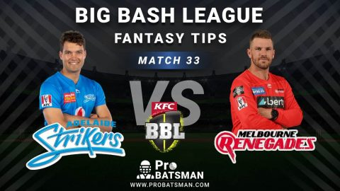 STR vs REN Dream11 Fantasy Predictions: Playing 11, Pitch Report, Weather Forecast, Head-to-Head, Best Picks, Match Updates – BBL 2020-21