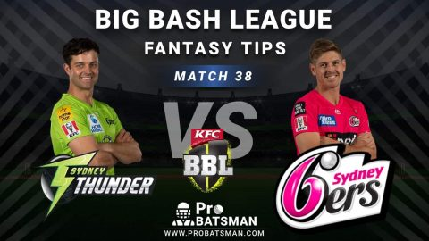 THU vs SIX Dream11 Fantasy Predictions: Playing 11, Pitch Report, Weather Forecast, Head-to-Head, Best Picks, Match Updates – BBL 2020-21