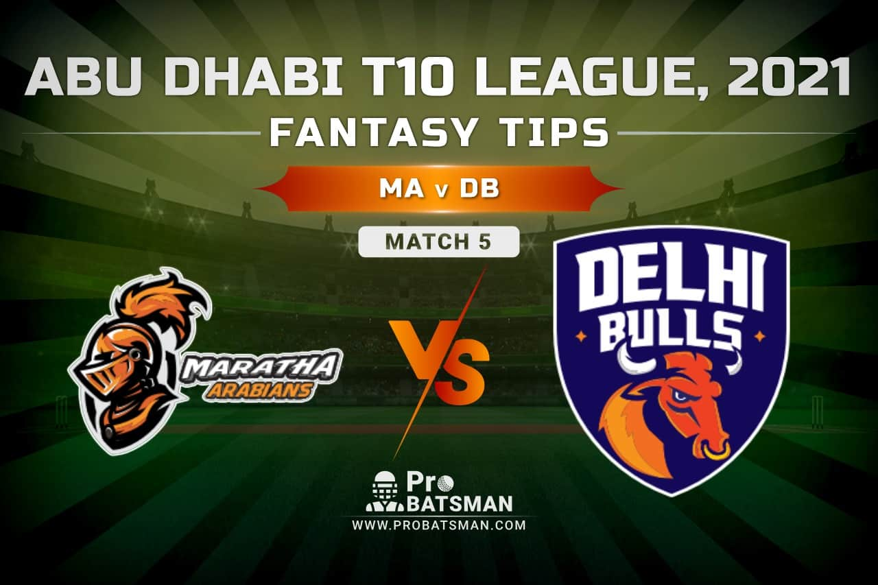 MA vs DB Dream11 Prediction, Fantasy Cricket Tips: Playing XI, Pitch Report and Injury Update – Abu Dhabi T10 League 2021, Match 5
