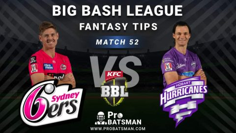 SIX vs HUR Dream11 Fantasy Predictions: Playing 11, Pitch Report, Weather Forecast, Head-to-Head, Best Picks, Match Updates – BBL 2020-21