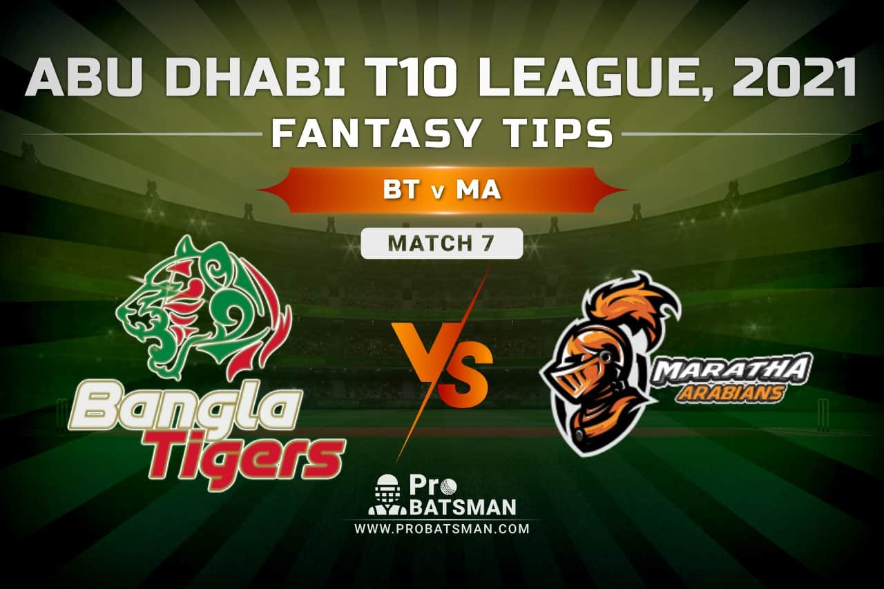 BT vs MA Dream11 Prediction, Fantasy Cricket Tips: Playing XI, Pitch Report and Injury Update – Abu Dhabi T10 League 2021, Match 7