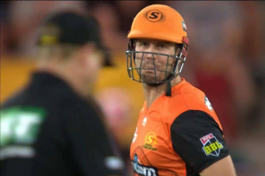 BBL 2020-21: Mitchell Marsh Fined $5,000 For Lashing Out At Umpire After Wrongly Given Out