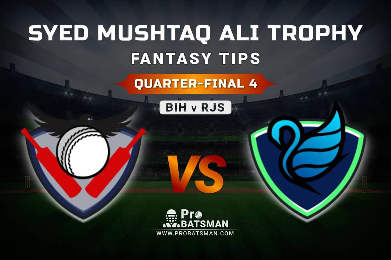 BIH vs RJS Dream11 Fantasy Predictions: Playing 11, Pitch Report, Weather Forecast, Match Updates of Quarter-Final 4 – Syed Mushtaq Ali Trophy 2021