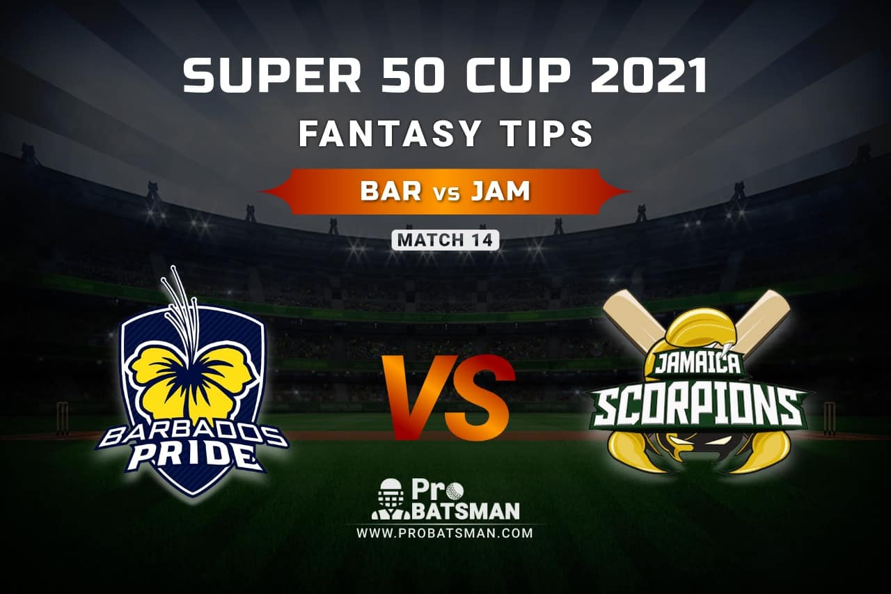 BAR vs JAM Dream11 Prediction, Fantasy Cricket Tips: Playing XI, Weather, Pitch Report, Head-to-Head and Injury Update – Super 50 Cup 2021, Match 14