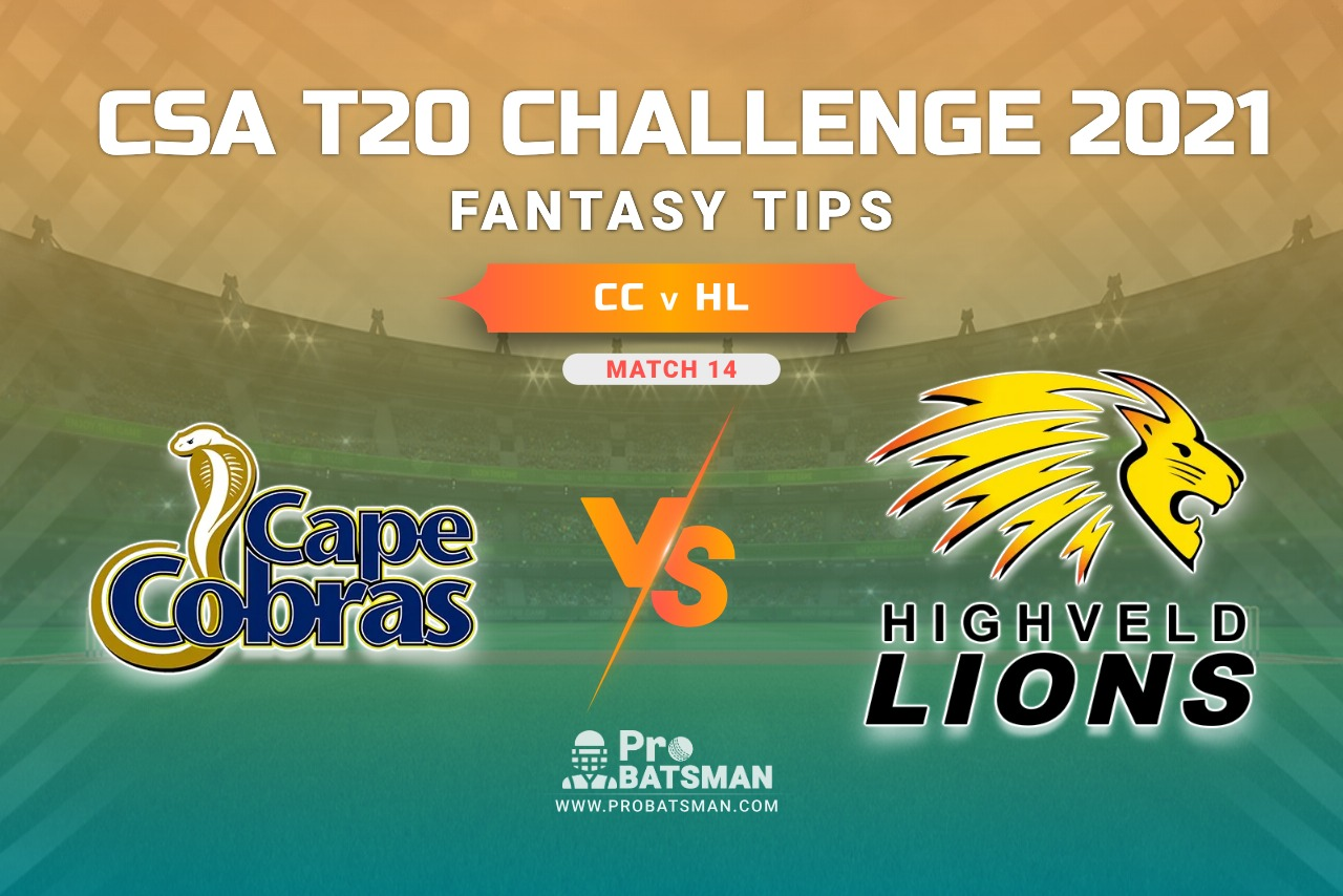 CC vs HL Dream11 Prediction, Fantasy Cricket Tips: Playing 11, Weather, Pitch Report, Injury Update – CSA T20 Challenge 2021, Match 14
