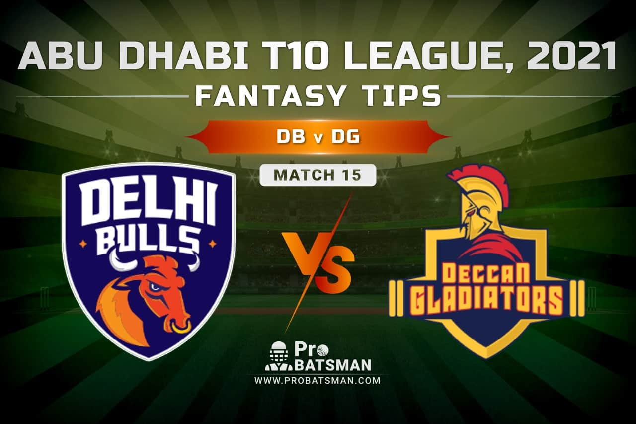 DB vs DG Dream11 Prediction, Fantasy Cricket Tips: Playing XI, Pitch Report and Injury Update – Abu Dhabi T10 League 2021, Match 15