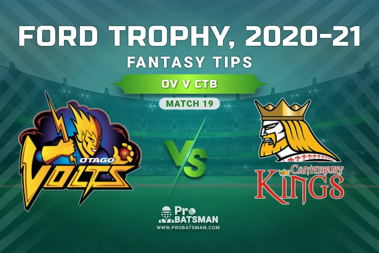 OV vs CTB Dream11 Prediction, Fantasy Cricket Tips: Playing XI, Pitch Report and Injury Update, Ford Trophy 2020-21, Match 19