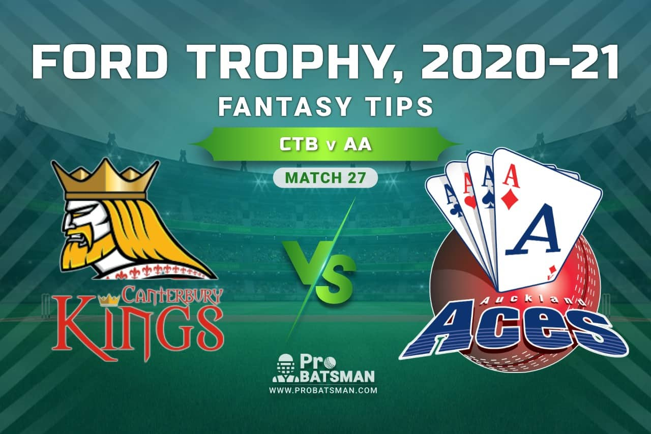 CTB vs AA Dream11 Prediction, Fantasy Cricket Tips: Playing XI, Pitch Report and Injury Update, Ford Trophy 2020-21, Match 27